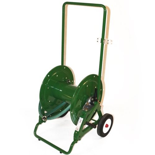 Hannay portable industrial hose reel on wheels