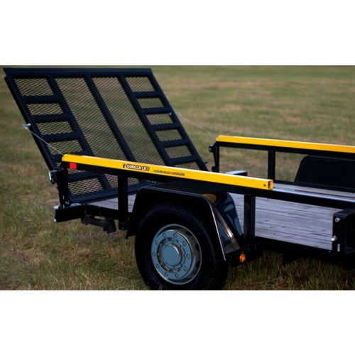 Two-sided trailer tailgate lift assist - Gorilla Lift. Each unit attaches to each side of a trailer.