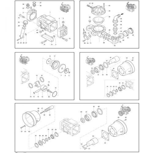 Complete parts listing for the Hypro D50 Diaphragm Pump.