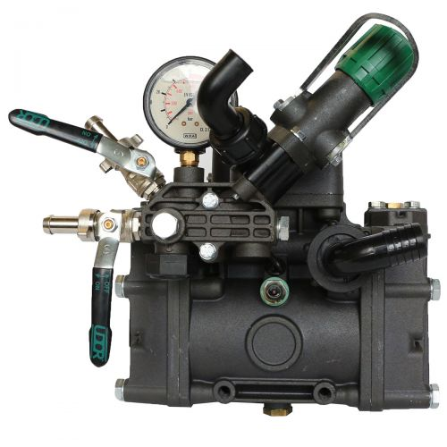 "Udor Kappa 40 Diaphragm Pump with 1"" inlet, two 1/2"" outlets, and a 3/4"" bypass port size. Includes regulator."