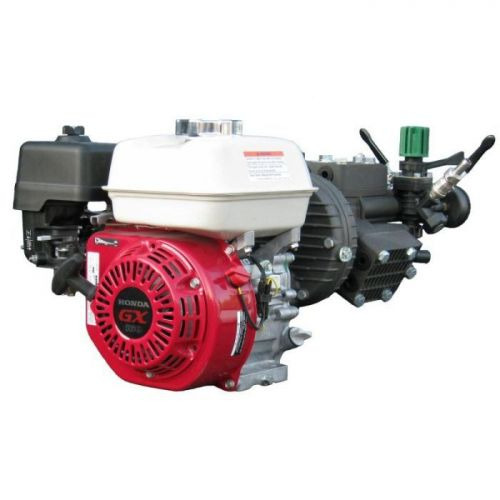 Kappa 43 Diaphragm Pump and Honda GX160QH Engine assembly with gearbox and pressure regulator.