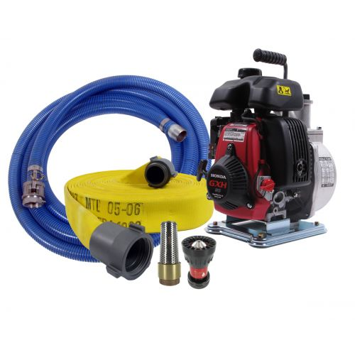SEH-40H Fire Fighting Pump with 50 feet of attack hose and a foot valve.