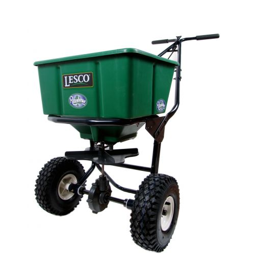 50 LB. Push Spreader by Lesco with enclosed gearbox.