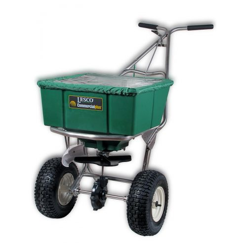 The 101186 Lesco High Wheel Fertilizer with Deflector.  Cover is not included