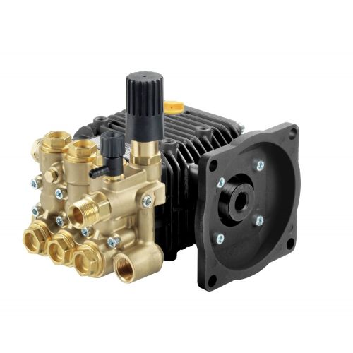 "Comet LWD-K Series Industrial Triplex Plunger Pumps with 5/8"" hollow shaft."
