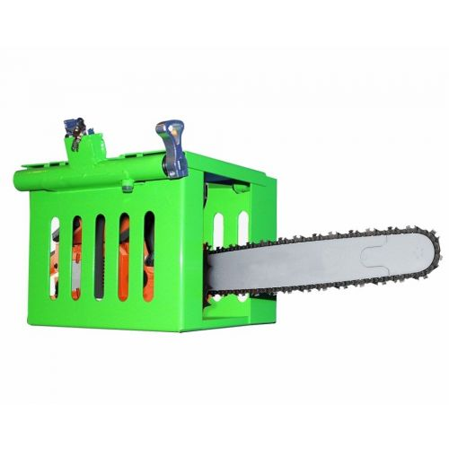 Secure a chainsaw in an open or enclosed trailer.