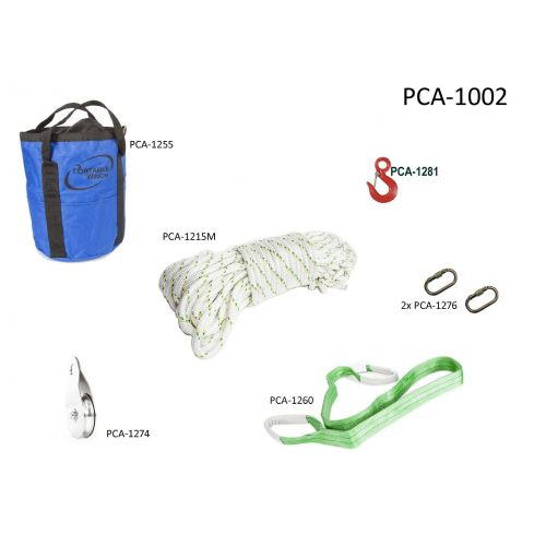 A handy kit for foresters and hunters who require accessories for their PCW3000 or PCW5000 Portable Winch.