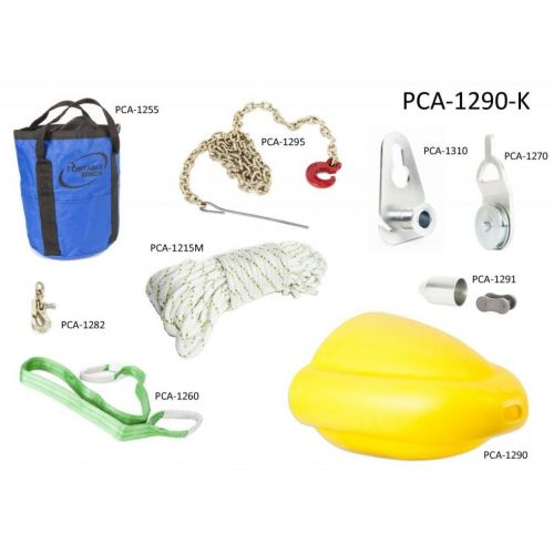 Portable Winch Skidding Cone Kit for pulling heavy logs with an all terrain vehicle.