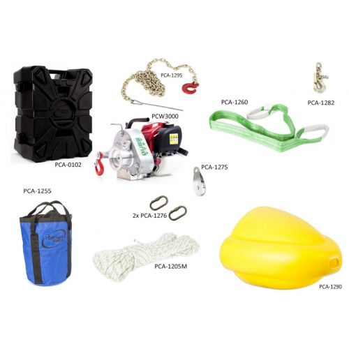 Portable Winch PCW3000-FK Forestry Assortment Kit.