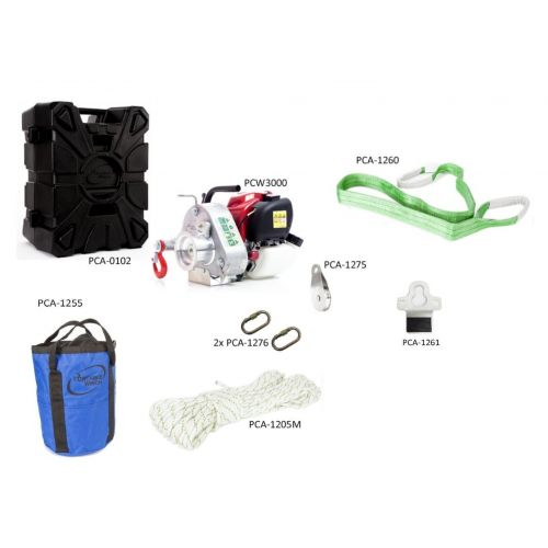 Portable Winch PCW3000-VK Off Road Assortment Kit.