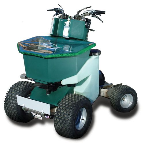 Permagreen Ride-On Spreader/Sprayer combination. Front view.