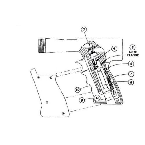 Parts listing for the Lesco Chemlawn Gun.