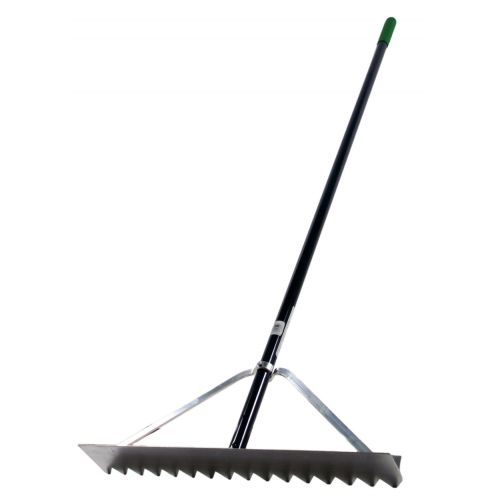 A Pro-Turf Lute for spreading gravel or grading soil.