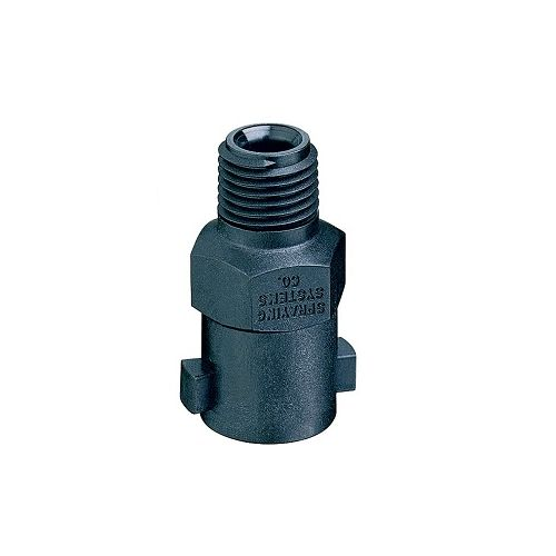 "QJ1/4TT Nozzle body with 1/4"" NPT male thread. These bodies use a quick Teejet cap"