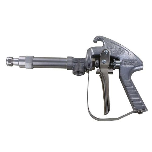 Lightweight aluminum spray gun for low pressure spot spraying or low-height tree spraying up to 200 psi.