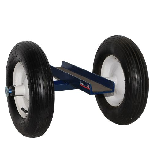 "The Stone Slab Dolly has two 16"" pneumatic tires that absorb vibration and reduce the possibility of breakage to the slab."