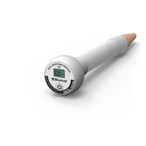 With the simple press of a button, this sensor will determine how dry or moist the soil condition is, letting you know if watering is urgent.