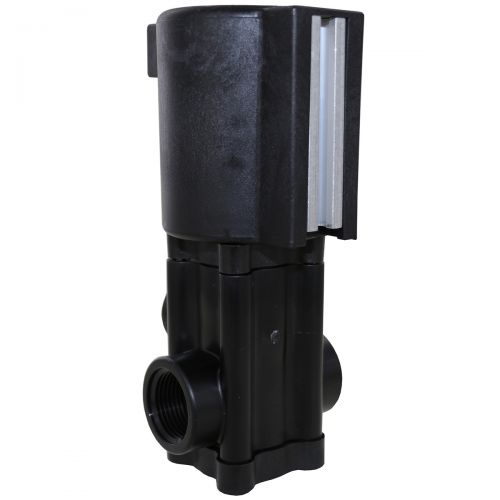 The 144P DirectoValve from Spraying Systems Co. is a solenoid operated control valve. Can be purchased as 3 valves all together for a spray boom with 3 sections.