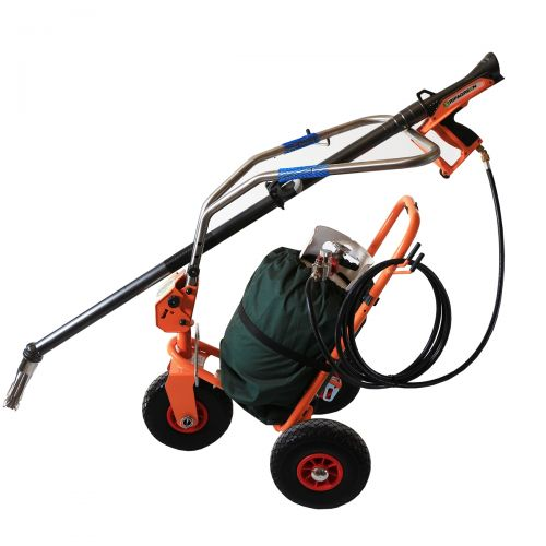 The Ripagreen Thermal Weeder is comprised of the Thermal Weeding Lance with Trigger Gun and Mobile Cart. Propane tank NOT included.