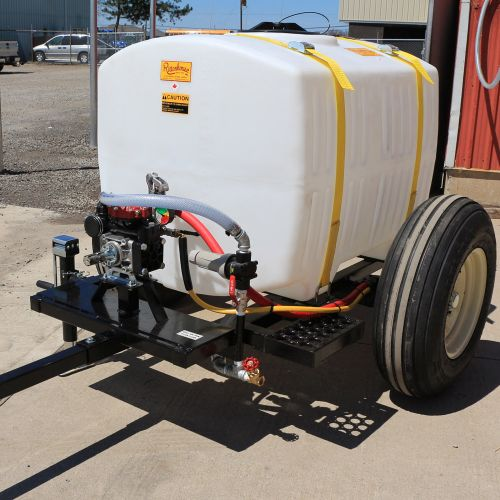 200 US Gallon Trailer Sprayer. Sprayer may vary from actual picture.